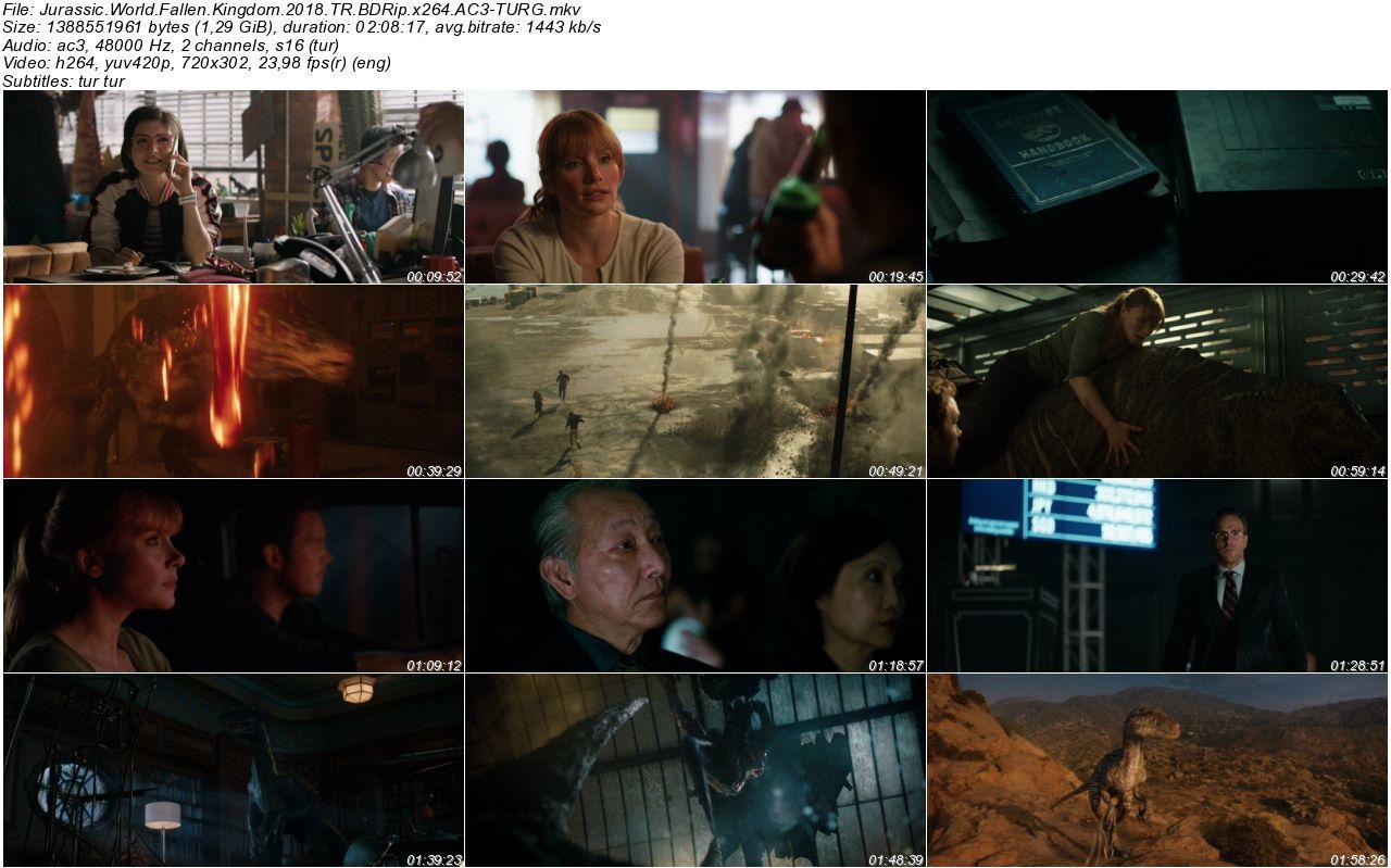 Jurassic World Yıkılmış Krallık 2018 - 1080p 720p 480p - Türkçe Dublaj Tek Link indir
