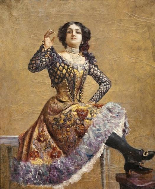 Norbert Goeneutte - Portrait présumé de Caroline Otero