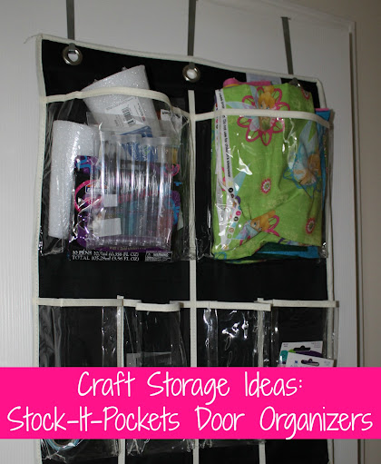 Craft Storage Ideas with Stock-It-Pockets Over-the-Door Organizers