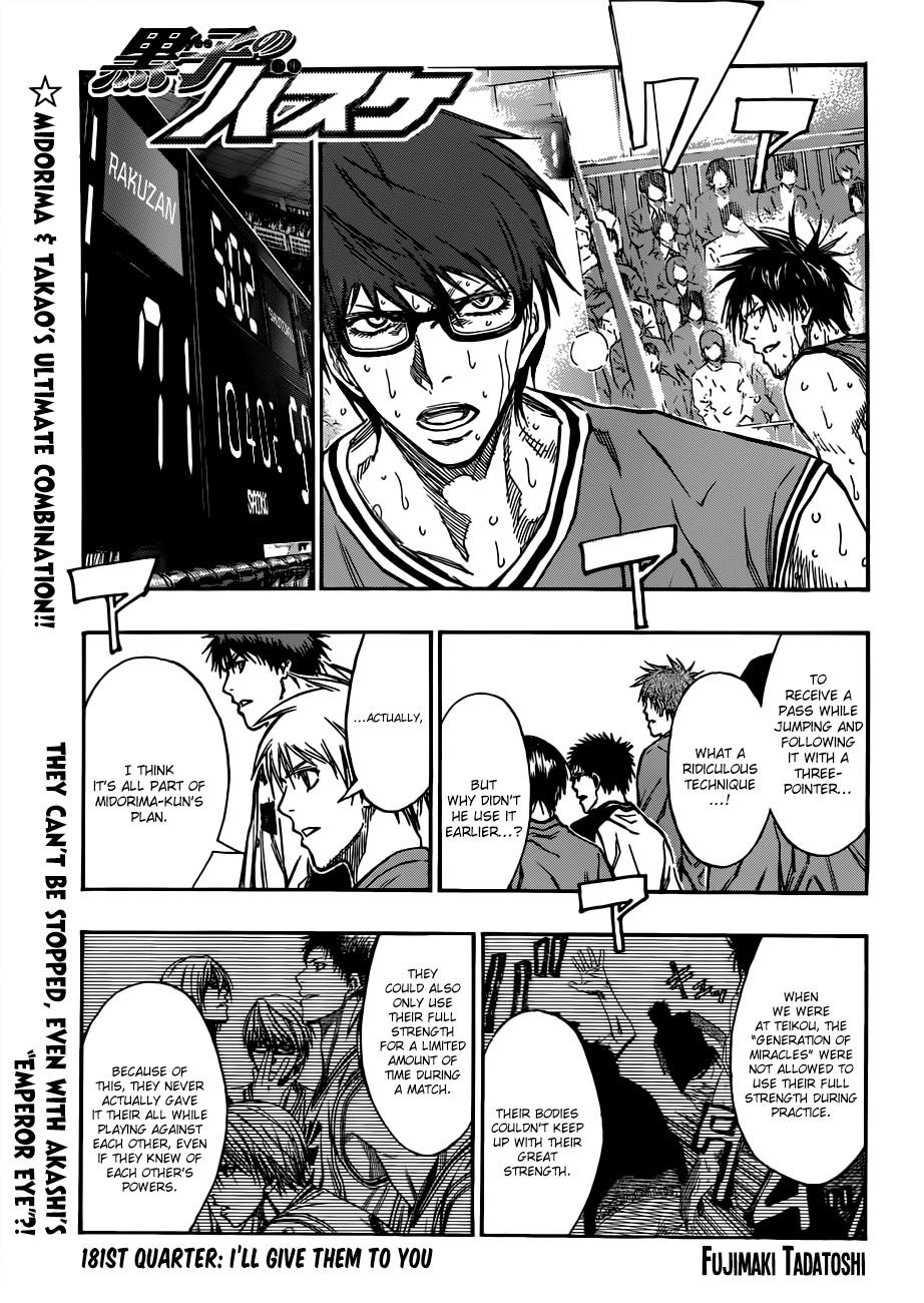 Kuroko no Basket Manga Chapter 181 - Image 01