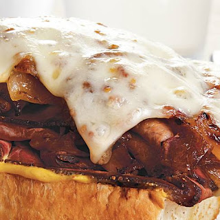 Roast Beef Sandwiches with Caramelized Onions.