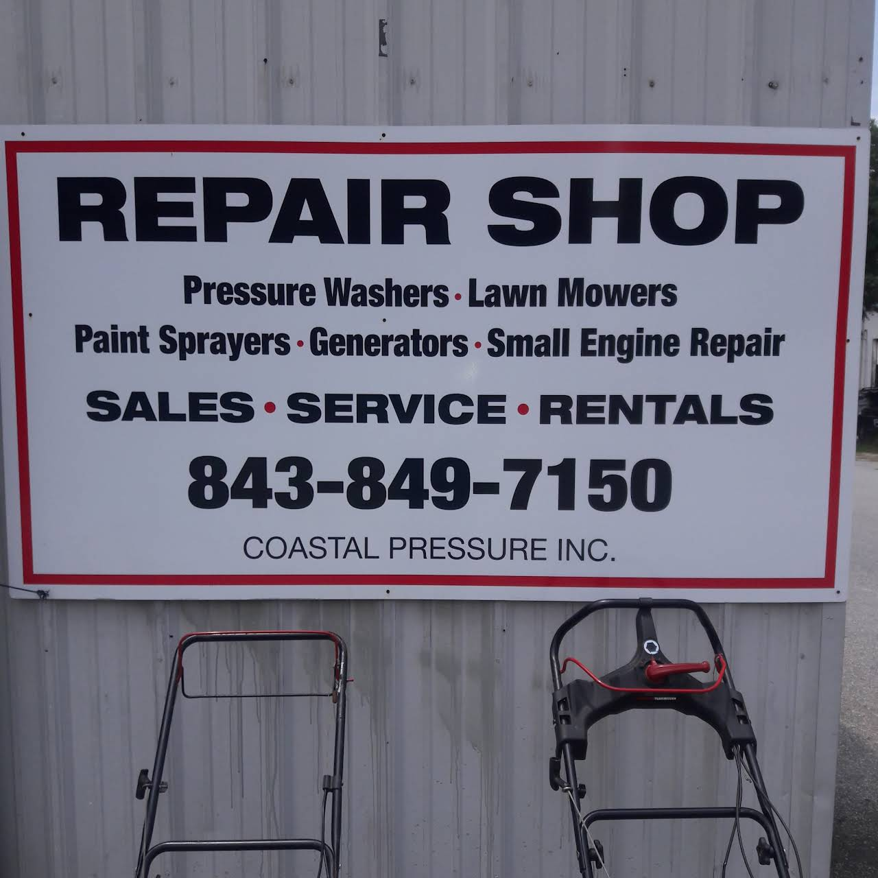 Coastal Pressure Inc - Small Engine Repair Service in Mount