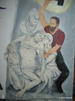 Michelangelo zerstört seine Grab-Skulptur