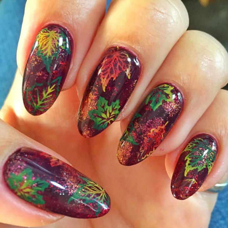 Autumn Leaves Nail Art Images - nail art and nail design