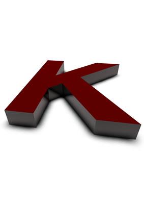 lettre 3D rouge de Chine - K - images libres de droit