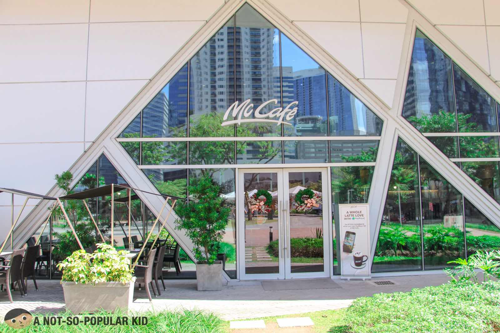 McCafe facade - Maybank Theater, Bonifacio Global City