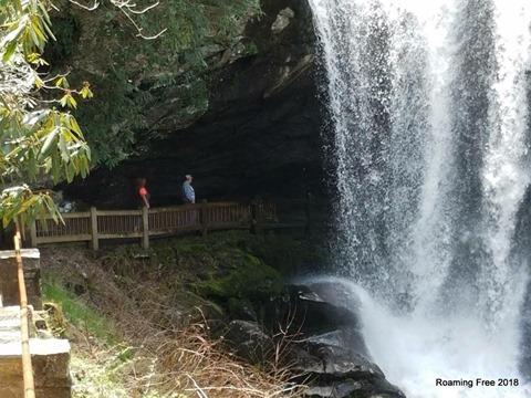 Tom & I behind the falls