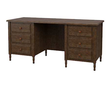Farmhouse Executive Desk in Hayes Quarter Sawn Oak