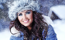 women closeup winter models snowflakes 1920x1200 wallpaper