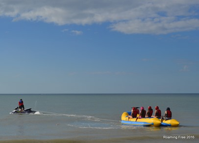 Banana Boat going out