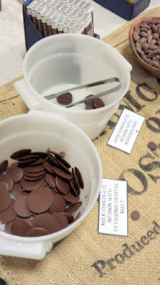Portland Beer and Cheese Fest 2015, chocolates by Woodblock Chocolate made special batches of Milk Chocolate infusion with Patagonia Crystal Malt and a Dark Chocolate Infusion with Meridian Hops
