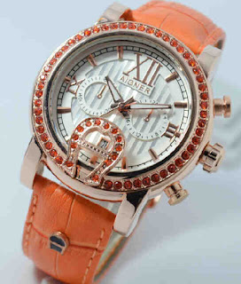 jam tangan Aigner romawi ring diamond colour date chrono