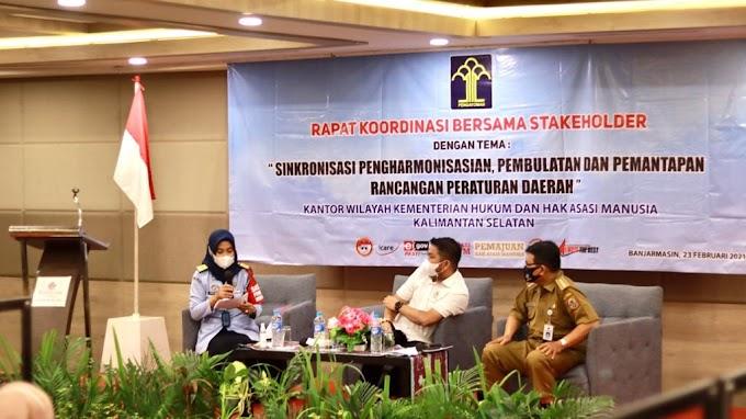 Waket DPRD Kalsel Harapkan Ada MoU Dengan Kemenkum HAM Terkait Perda