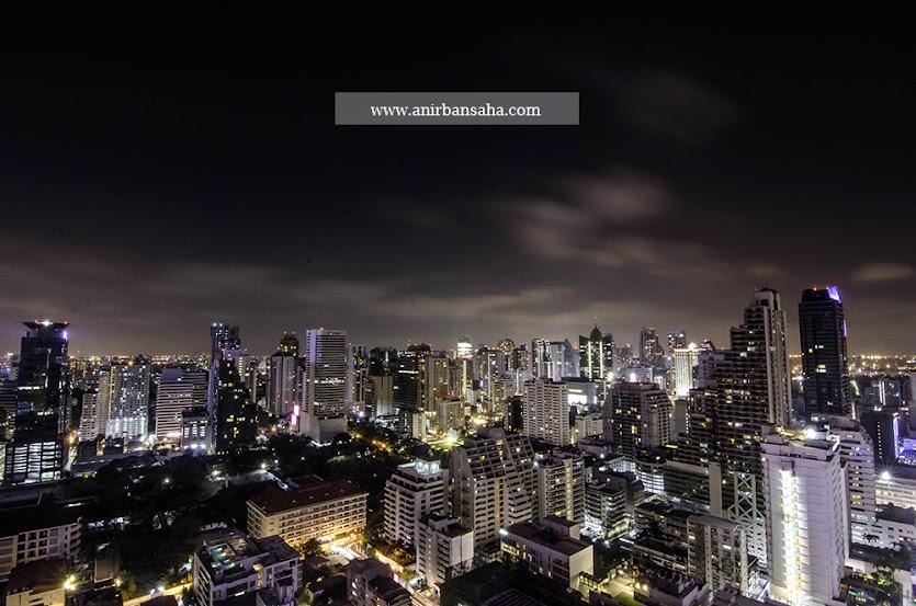 Bangkok skyline, Bangkok night life, Sukhumvit