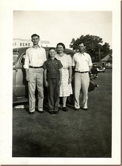 Ernest, Leonard, Molie & John Margheim 1942