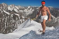 Wim Hof training at the Mont Blanc.