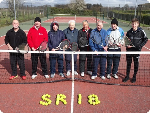 Sport Relief 2018 participants pose  on court