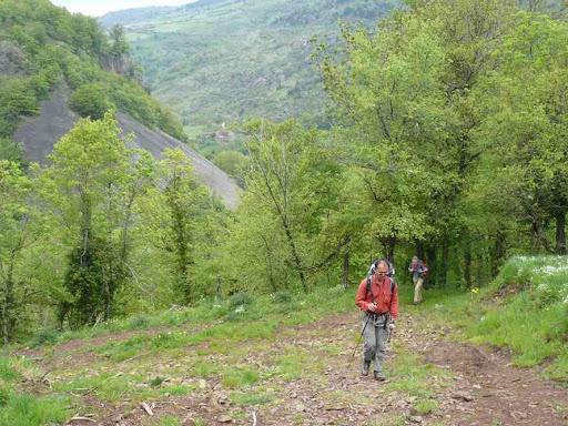 Montée entre Pont-Gibert et Conac