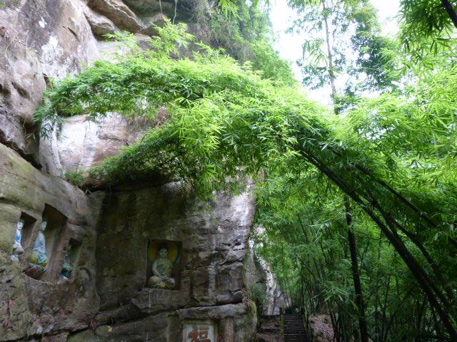 CHINE.SICHUAN.PING LE à 2 heures de Chengdu. Ravissant .Vallée des bambous - P1070612.JPG