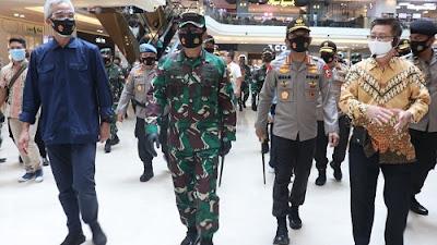 Panglima TNI dan Kapolri Cek Langsung Penerapan Protokol Kesehatan di Semarang