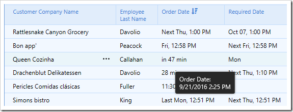 Hovering over a Smart Date will show the original value.