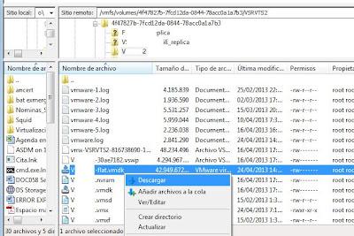 Acceso a servidor VMware ESXi con Filezilla Client y SSH, transferir ficheros entre equipo y ESXi
