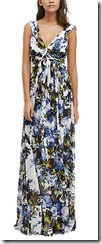 French Connection Palm Print Maxi Dress