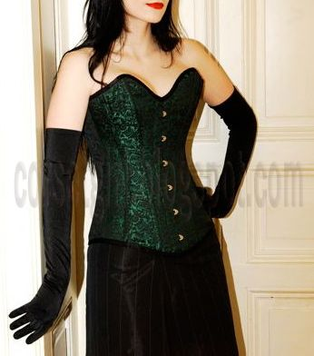 Overbust Corset Ball Gown and gloves
