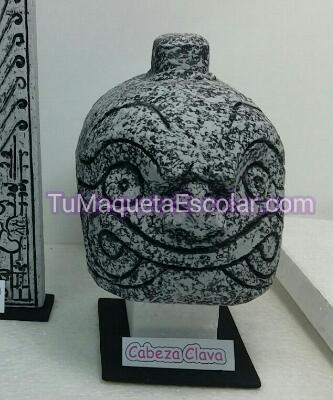cabeza litoescultorica chavin 3d