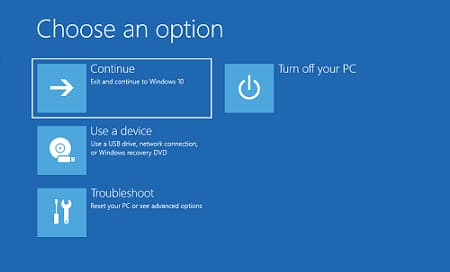 Continue Option to open Command Prompt