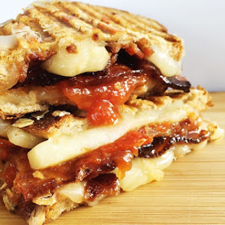 Bacon Grilled Cheese with Easy Homemade Tomato Jam Recipe