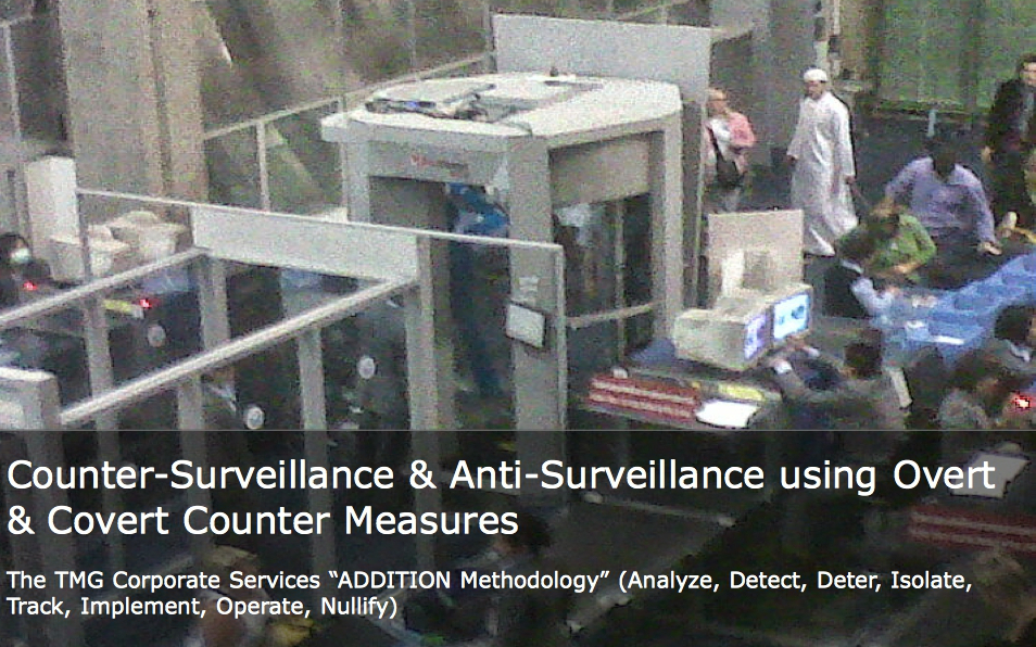 TMG Corporate Services - Counter Surveillance & Anti Surveillance