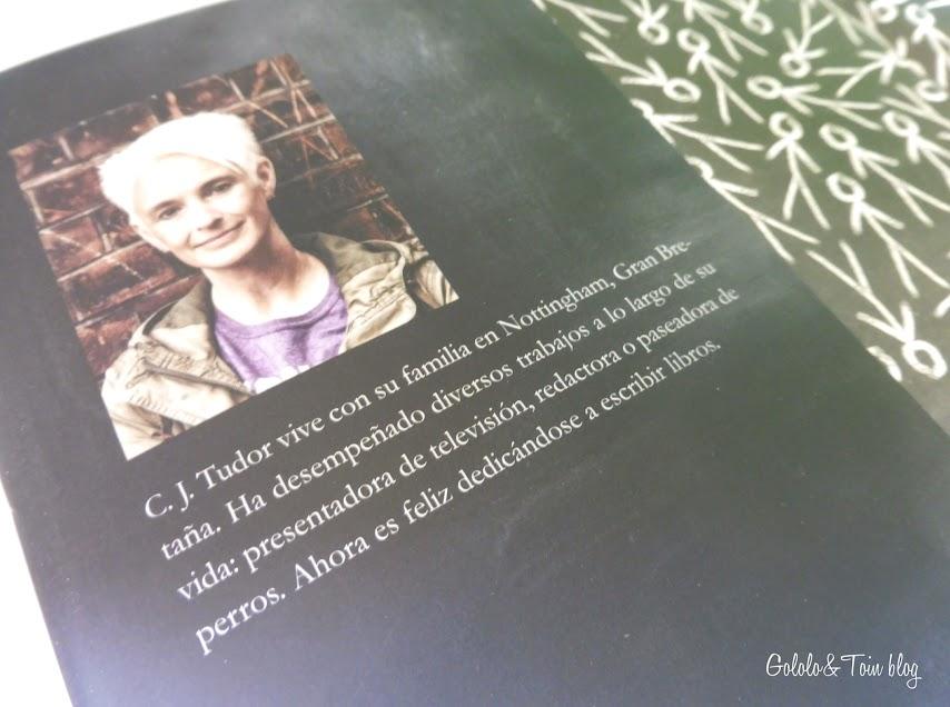 Novela El Hombre de Tiza C.J. Tudor