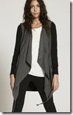 Mint Velvet Khaki and Black Military Cardigan