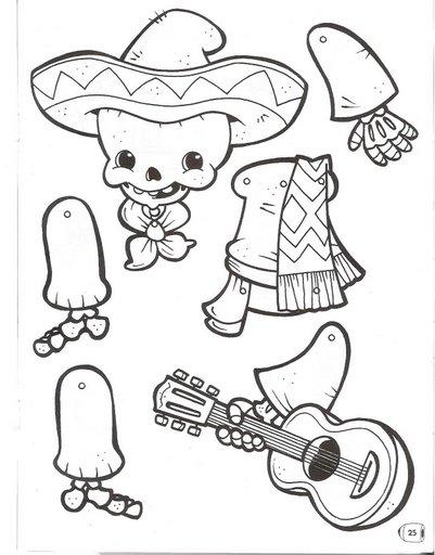 Laminas Infantiles Marionetas Dia De Muertos
