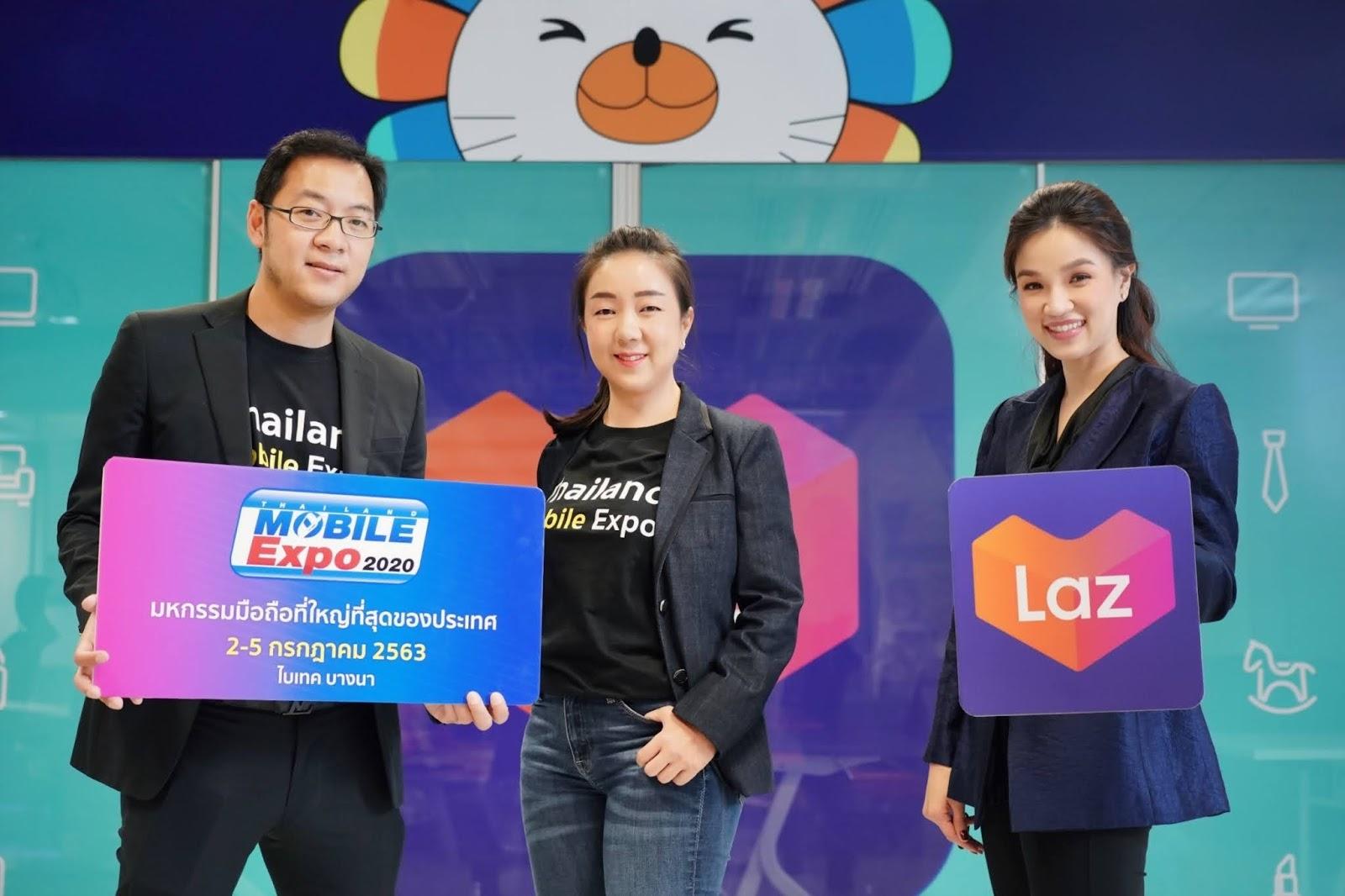 Lazada ผนึกกำลัง MVP จัดงาน Thailand Mobile Expo 2020 ช้อปออนไลน์ได้ทุกที่ทั่วไทย 24 ชั่วโมง เป็นครั้งแรก พร้อมแจกคูปองส่วนลดรวมกว่า 4 ล้านบาท