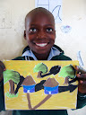 And here's one of Philani Sibuyi's drawings, with nice bold coloring. Some of the kids are making small pieces of artwork to try to sell to guests at Ulusaba, both for profit and for fundraising for the school... I hope it goes well!