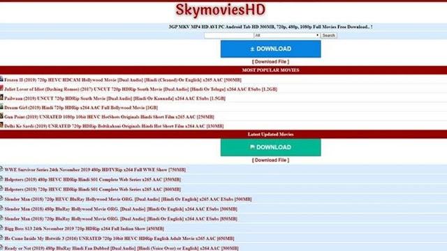 SkymoviesHD: Download Any Movie From SkymoviesHD.