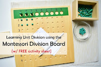 Montessori Unit Division Board (with FREE Activity Sheet)