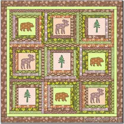 log cabin quilt northwoods