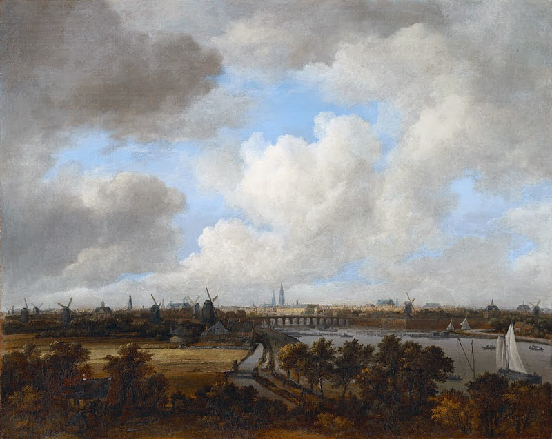 Jacob van Ruisdael - Amsterdam, as seen from the Amsteldijk (ca 1660)