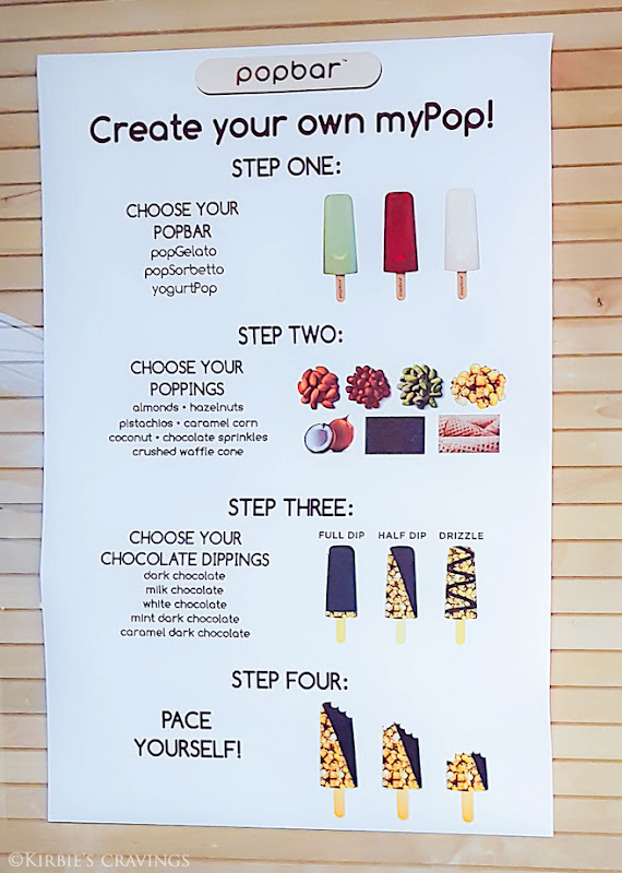 photo of a sign explaining how to create your own popsicles
