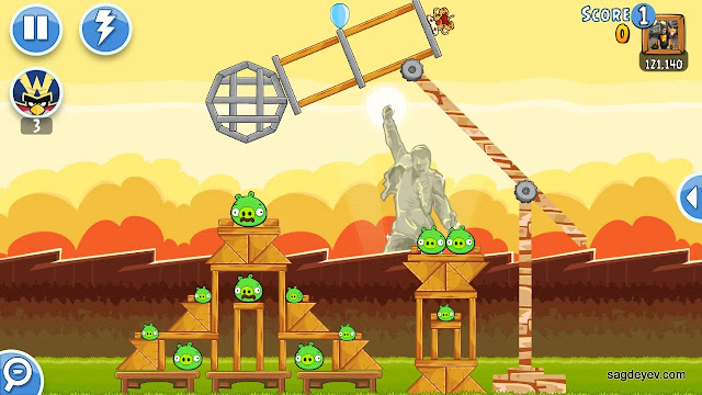 Angry Birds Friends: Freddie For A Day Level 5 - Microphone