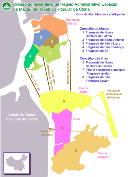 Mapa Macau