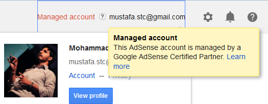 Ezoic Managed AdSense Account
