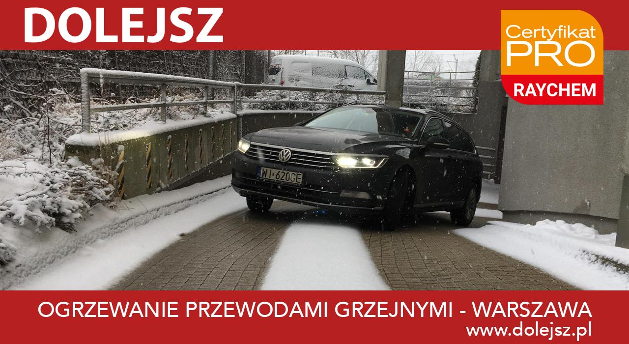 Ogrzewanie przeciwoblodzeniowe podjazdu Warszawa - efekty
