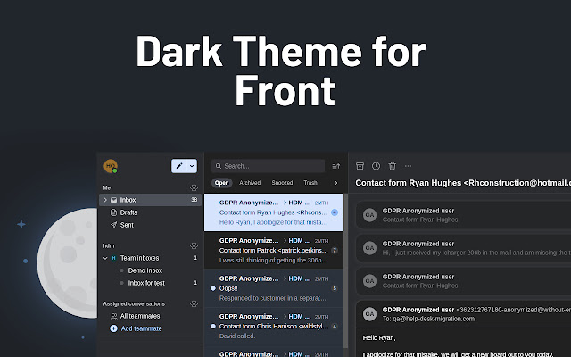 Dark theme for Front App