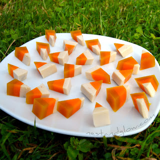 Veggie Healthy Candy Corn with Fruit Juice