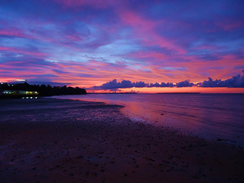 Twilight Over Water Village