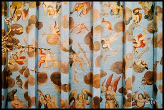Photo: musizierende Engel in der Dorfkirche  Matthaeus 24 /30  Und er wird senden seine Engel mit hellen Posaunen, und sie werden sammeln seine Auserwählten von den vier Winden, von einem Ende des Himmels zu dem anderen.